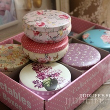 12pc/box High quality flower tea box Metal