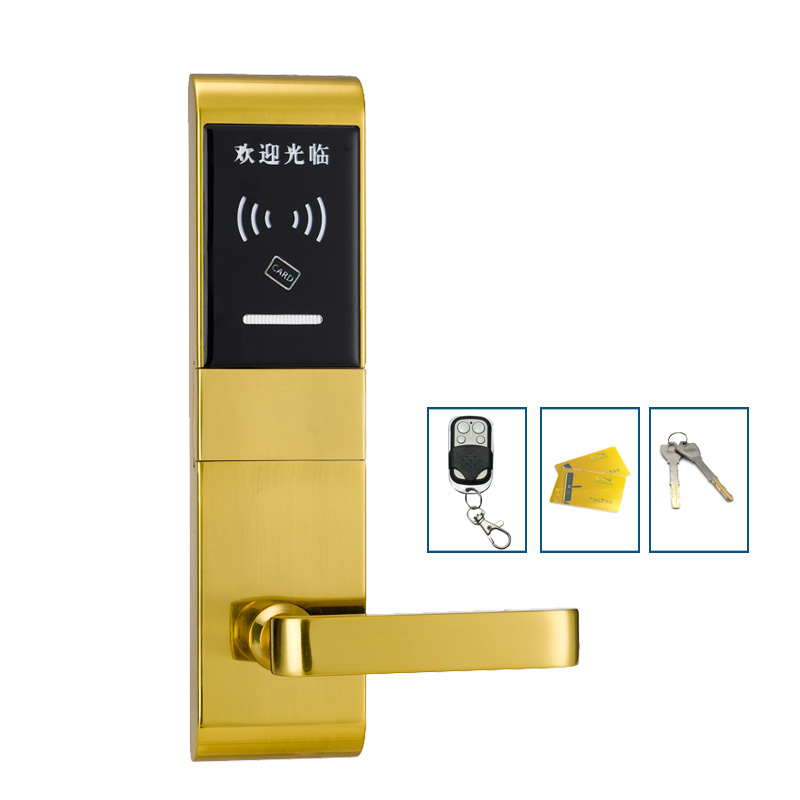 Smart IC Card Door Lock Electronic Digital Lock Remote Controller Free Style Handle For Home Office