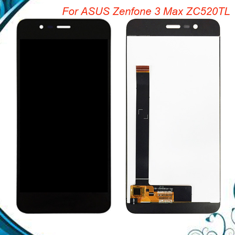For <font><b>Asus</b></font> <font><b>Zenfone</b></font> <font><b>3</b></font> <font><b>Max</b></font> <font><b>ZC520TL</b></font> LCD Display Touch <font><b>Screen</b></font> Digitizer Assembly <font><b>Replacement</b></font> 5.2