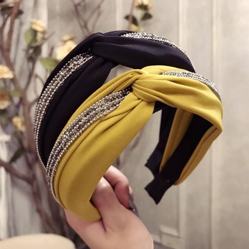 Haimeikang Stripe Print Knot Hairbands Wide Headband Hoop 2018 Fashion Hair Accessories For Women New Headdress Hair Band