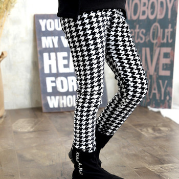 2019 Fashion Winter Girls Warm Thick Leggings Girl Plaid Pencil Pants Clothing Kid Baby Girl Skinny Trousers For 3-11 Year