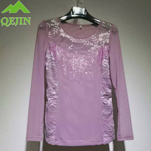 Autumn T-shirt Lace Tops