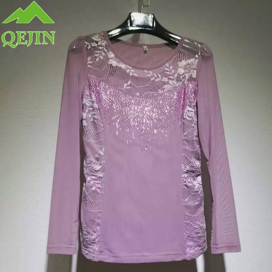 2017 mulheres outono t-shirt rendas bordado floral grampeado talão - Roupas femininas