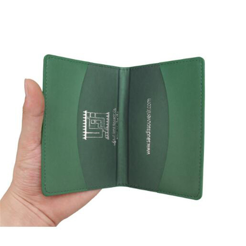 PU Leather Saudi Arabia Passport Cover Portable Travel Id Card Holder for Women Men Credit Card Passport Protector Cases