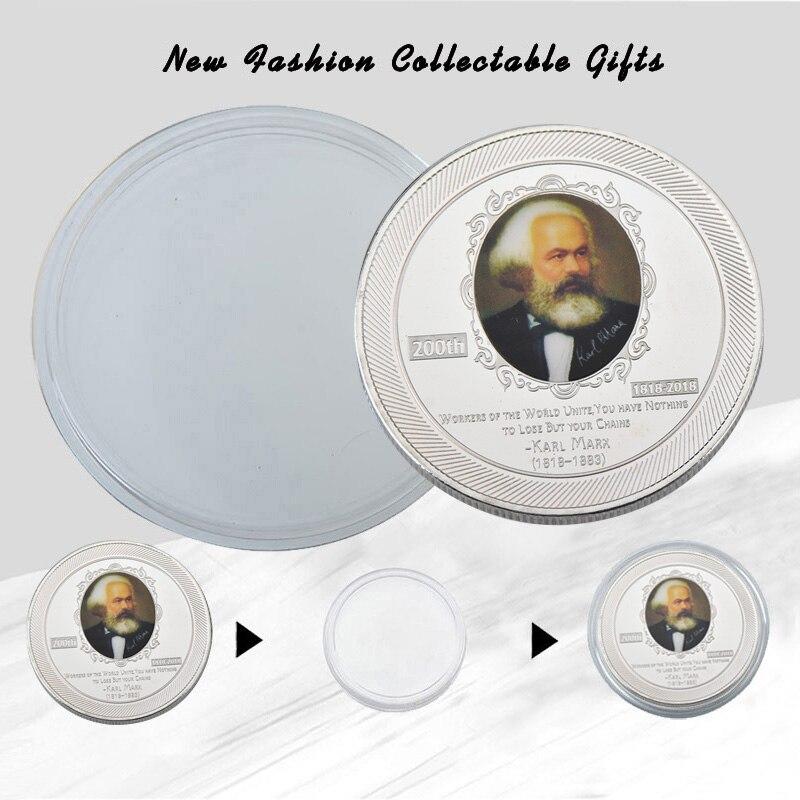 Wr Deutschland Karl Marx Silber überzug Gedenk Euro Kopie Münzen Für
