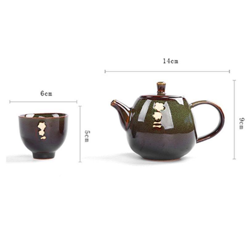6 pièces thé et thé ensemble cadeau céramique four théière ensemble Kung Fu thé ensemble cuisine porcelaine thé cérémonie ensemble thé pour cadeau de luxe - 4