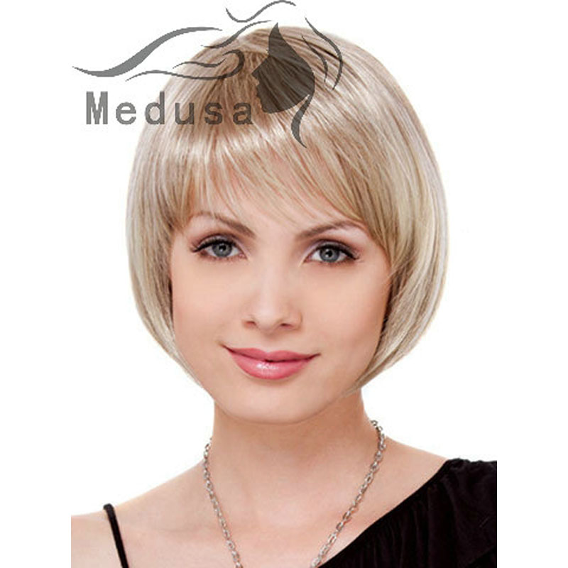 Medusa Hair Products Blonde Bob Wig For Women Straight Haircuts