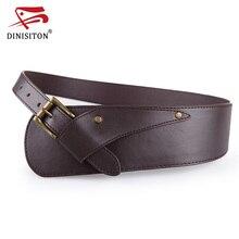 DINISITON Waistband Belts Vintage Women Belt Ladies Metal Buckle Waist Belt ultra wide Belts For Woman YF002