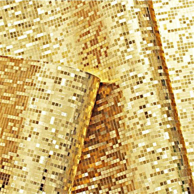 Glitter Pvc Wallpapers Rolls Golden Silver Foil Bedroom Wallpaper Mirror Mosaic Sparkle 3d Wallpapers For Living Room Home Decor