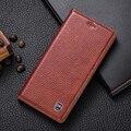 Genuíno do vintage de couro case para lg x screen/xscreen luxo telefone flip fique capa de couro do couro