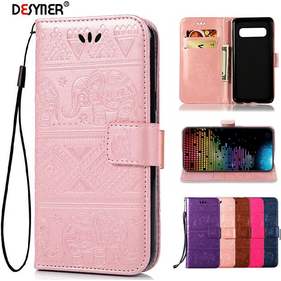 S10 S10e Wallet Case For Samsung Galaxy S10 Plus Flip Luxury PU Leather Phone Case For Samsung Galaxy S10 S10e Plus Back Cove