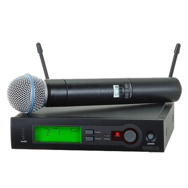 SLX24 BETA58 58A UHF Sans Fil Microphone Professionnel Vocal Sans Fil Microfone avec 6 pin Poche IR Sync pour le Spectacle En Direct