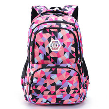 Fashion Girl School Bag Waterproof light Weight Girls Backpack bags printing backpack child 2 sizes