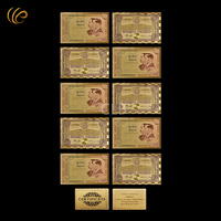 Wholesale New Arrives Thailand Colorful 24K Gold Banknote 100 Baht Paper Money with Certificate Card for  Business Gift