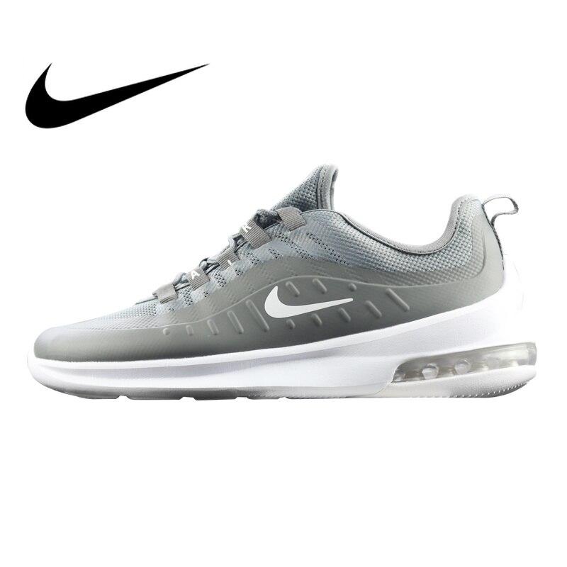 Originale Autentico Nike Air Max Asse degli uomini Runningg Scarpe Grigio/Nero Assorbimento Degli Urti Resistente All'usura Leggero AA2146 Traspirante