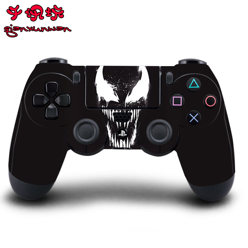 Venom Full Cover Gamepad Skin Stickers For Playstation 4 Dualshock 4 Controllers Vinyl Skins Decals Play Station 4 Protector(China)