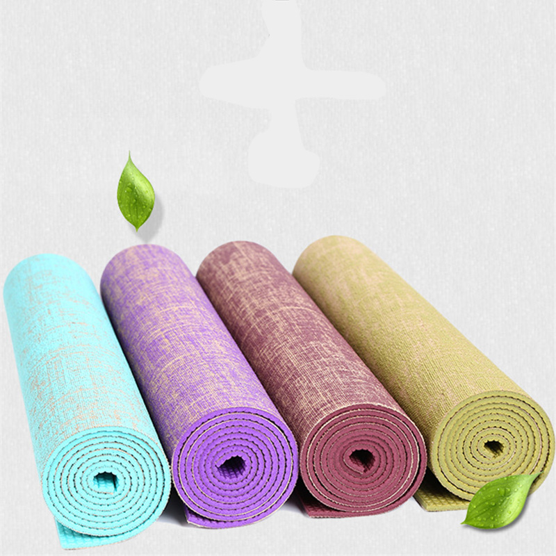 183 61 CM 5 MM Natural Jute Yoga Mat Pad Eco Friendly Reversible Hybrid Linen Yoga