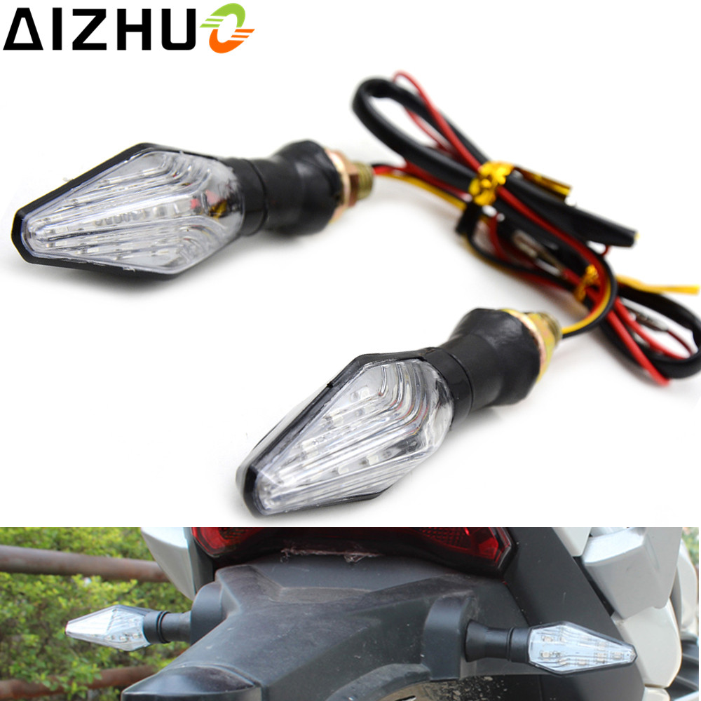 12V Motorcycle Turn Signal <font><b>Light</b></font> LED Lamp Blinker Amber Blue <font><b>Light</b></font> For <font><b>Honda</b></font> CB 400 CB600F CBR 954 929 250R 125 CBR1100XX <font><b>NC750X</b></font> image