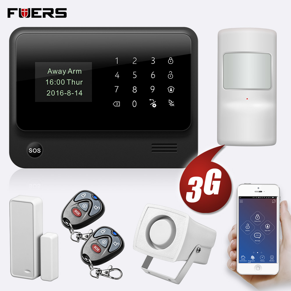 FUERS 2019 NEW WIFI GSM 3G G90B Wireless Home Security Alarm System IOS Android APP Control Home Burglar Security