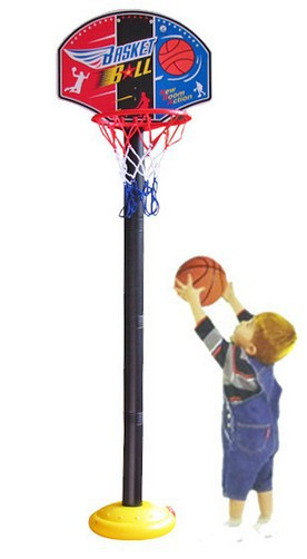 Free Shipping Kids Basketball Goal Stand Hoop Set with Ball / Pump Boys Outdoors Sports  ...