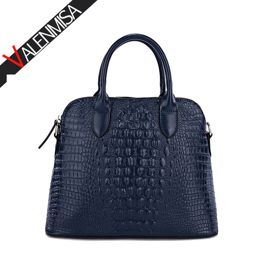 Women Bag 2018 Crocodile Genuine Leather Bags Handbags Women Famous Brands Women Leather Handbags Women Shoulder Bag Tote Bag chispaulo women genuine leather handbags cowhide patent famous brands designer handbags high quality tote bag bolsa tassel c165
