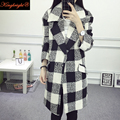 King Bright Brand  Design Winter Coat Women Warm Cashmere Wool Coat Long Women's Cashmere Coat European Fashion Jacket Outwear
