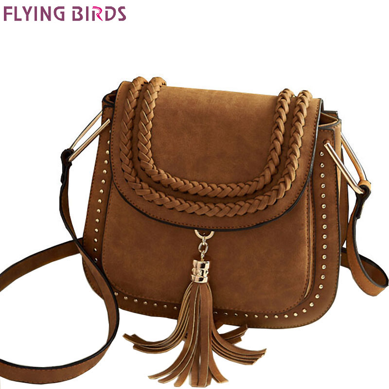 FLYING BIRDS 2016 women bag for Women messenger Bags ladies pu handbag designer shoulder bag tassel