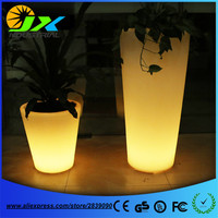 Big Plastic LED Flower Pot Light Color Changing Luminous Floor Vase For Garden Living Room Bedroom Dining Room Decoration Pots
