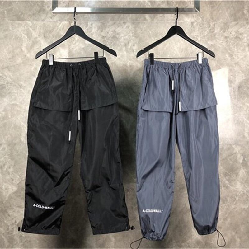 ACW A-COLD-WALL Logo Printed Women Men 2018 New Track Pants Joggers Fashion C Streetwear Men Pants Casual Pants Trousers