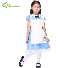 Halloween Maid Costumes Little Girls Alice in Wonderland Costume Suit Maids Lolita Fancy Dress Cosplay Costume