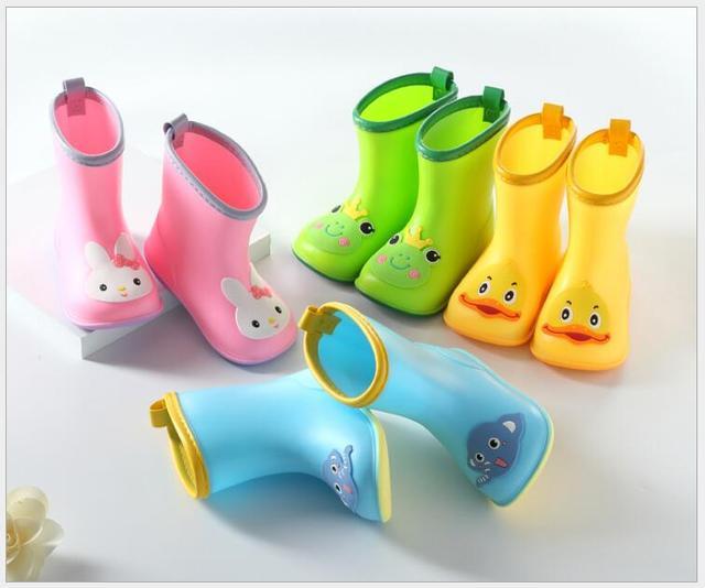 Yeni Moda Çocuklar ayakkabı Klasik çocuk ayakkabıları PVC Kauçuk Çocuk Bebek Karikatür Ayakkabı çocuk su ayakkabısı Su Geçirmez yağmur çizmeleri