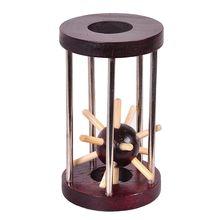 خشبية Tetrakaidecahedron قفل المنطق لغز لدغ الألغاز الدماغ دعابة إزالة الفكرية تجميع لعبة