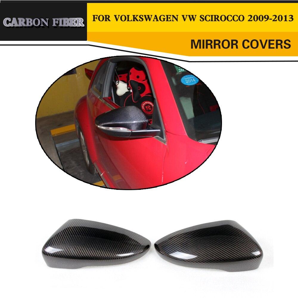 Car Styling Carbon Fiber Auto Side Mirror House Trim Covers For VW PASSAT CC Sedan 2009 2017 Beetle Coupe 2013 2017