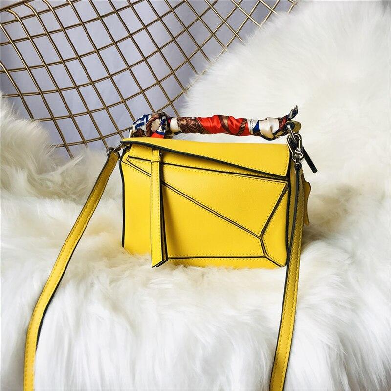 D'épaule À Style Nouveau Célébrité 2019 Cuir red Étoiles Sacoche Mini Réseau yellow Main Géométrique Sac En blue Sac Populaire Brown fWqvC