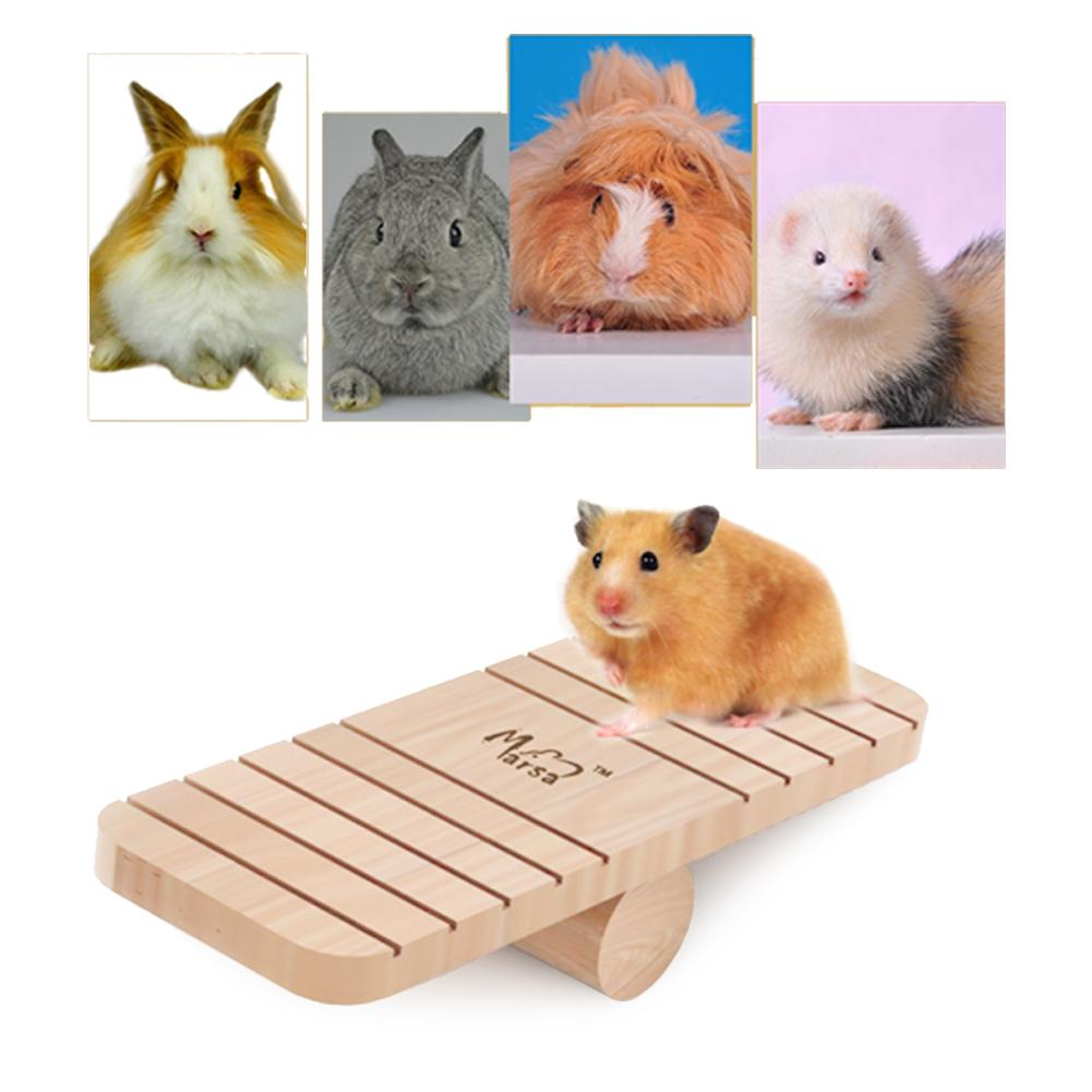 Small Animal Wood Alice Board Small Pet Animal Pine Seesaw For Hamster Chinchillas Guinea Pigs Funny Play Toys