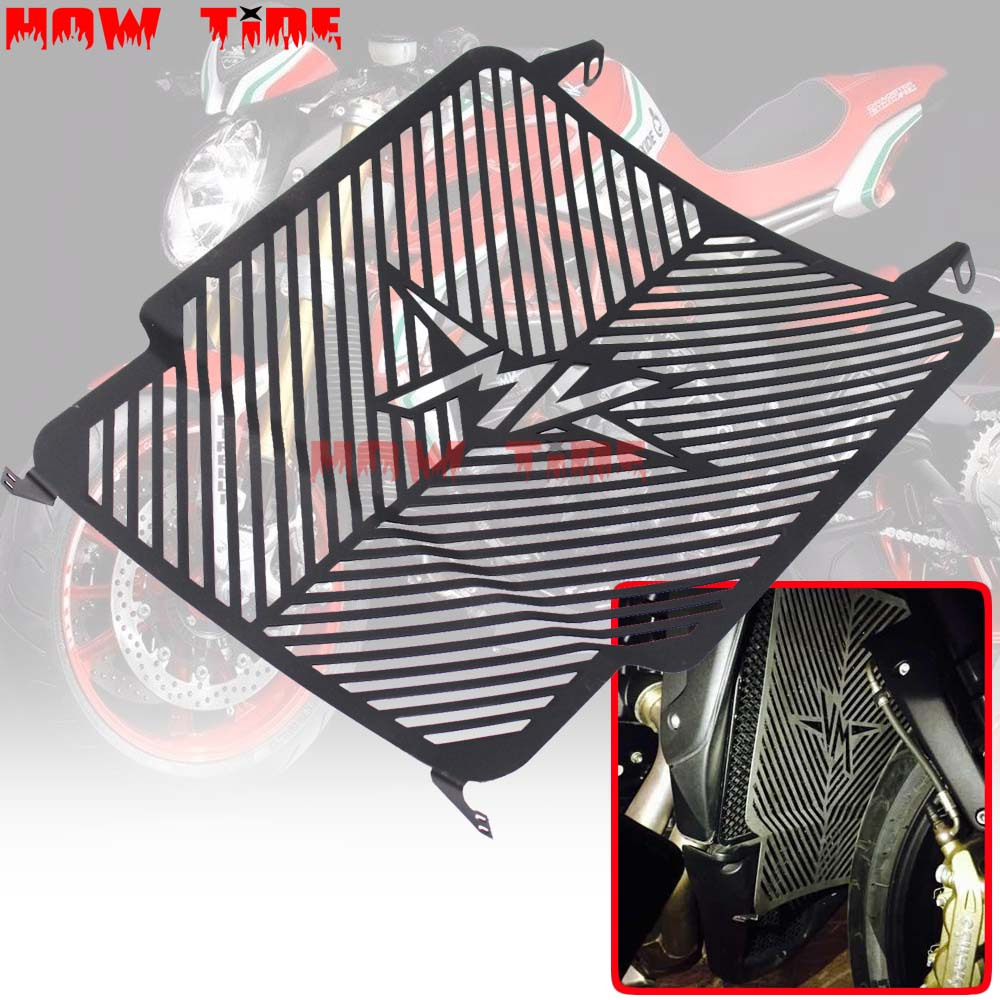 Black Motorcycle Accessories Radiator Grille Grills Guard Cover Protector For MV Agusta Brutale Dragster 800 RR 2015-2016Black Motorcycle Accessories Radiator Grille Grills Guard Cover Protector For MV Agusta Brutale Dragster 800 RR 2015-2016