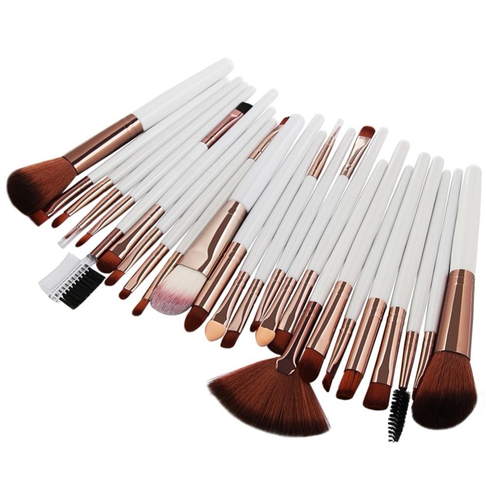 MAANGE 25 unids cepillo del maquillaje Kits de cara FUNDACIÓN DE Blush de labios hacer cepillos pincel, maquiagem