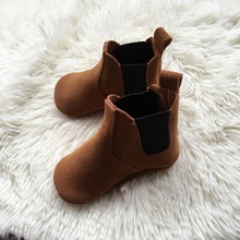 winter baby shoes boots infants warm shoes girls baby booties Genuine suede Leather boy baby boots fur newborns