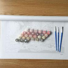 "DIY Painting By Number – Love in Paris (16""x20"" / 40x50cm)"