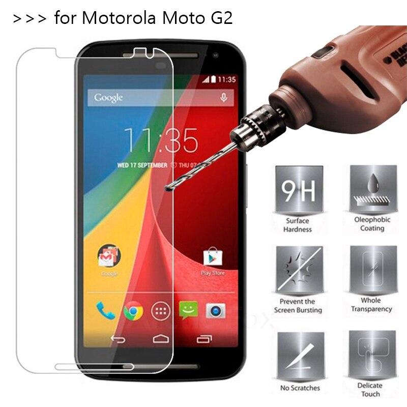 2.5D 0.26mm 9H Premium Tempered Glass For Motorola Moto G2 G+1 XT1063 XT1068 XT1069 Screen Protector Toughened protective film *