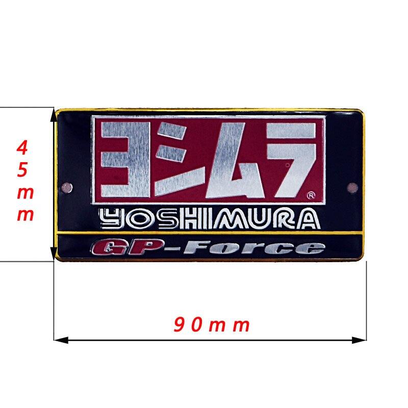 3D Aluminum Heat-resistant Motorcycle Exhaust Pipes Decal Sticker For Scorpio Yoshimura Akrapovic Sticker