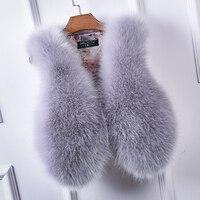 Fur Vest Faux Vest Sleeveless Leather Fox Special Offer 2016 New Coat Imitation Paragraph Women's Plush Rabbit Waistcoat