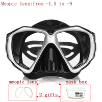 Prossional Diving Mask For Nearsighted Divers And Snorker Optical Lens Scuba Mask Tempered Glass Myopia Lens
