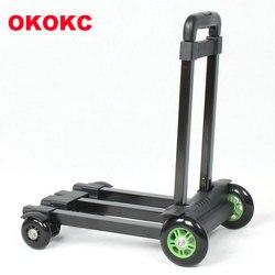 OKOKC viajes carrito de equipaje de mano Carro con rueda de coche pequeño Toweres 4 rueda Mute de remolque de viaje Accesorios