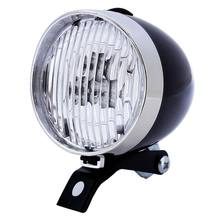 2017 Bicycle Bike 3 LED Front Light Headlight Vintage Flashlight Lamp New Torch Cycle Big Capacity Super Bright(China)