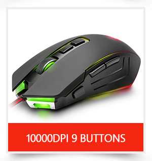 Redragon USB wired RGB Gaming Mouse 24000DPI 10 buttons laser programmable game mice LED backlight ergonomic for laptop computer 7