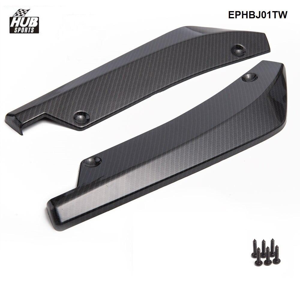 1 Pair Bumper Spoiler Rear Lip Canard Diffuser Anti Scratch Wrap Angle Splitters