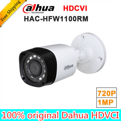 Wholesale dahua HAC-HFW1100RM 1MP HDCVI IR Bullet Camera Smart IP67 720P HD CCTV Lite Series DH-HAC-HFW1100RM metal housing dh hac hfw2221r z ire6 dahua original hd 1080p infrared night vision security camera ip67 audio cctv camera hac hfw2221r z ire6
