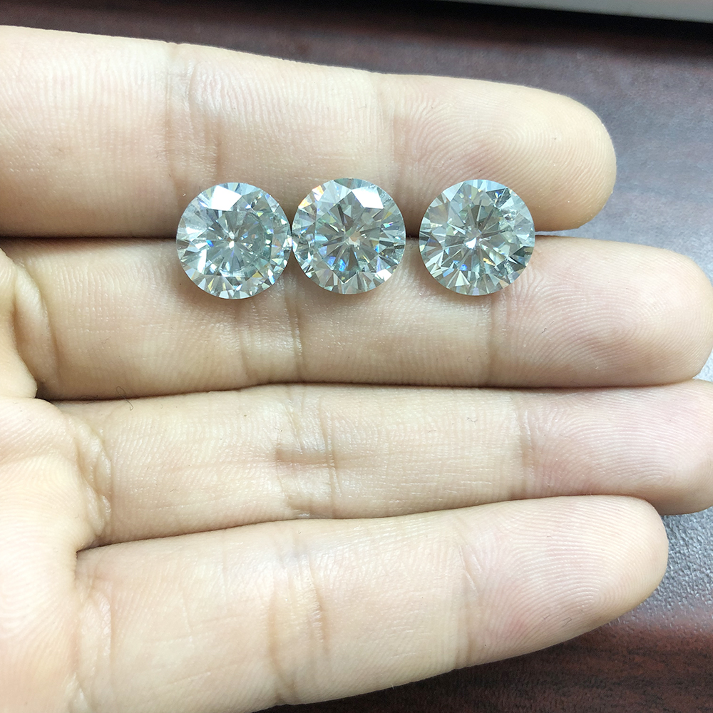 AEAW 9mm 3ct Carat Diamond equivalent weight Stunning IJ Color Moissanite Loose Lab Grown Gemstone Beads Luxury Jewelry