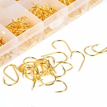 2017 New 500pc Fresh Water Sea Golden Fly Fishing Hooks Tackle Set With Box Wholesale Size 3-12